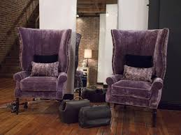 Leather Wingback Chair With Ottoman Design Ideas Chair Amazing Accent Chair Purple Photos Ideas Grape