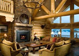 Pictures Of Log Home Interiors Rustic Cabin Interior Ideas Interior Design Log Homes Amazing