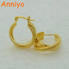 gold earrings philippines aliexpress buy anniyo stud earrings for women gold color