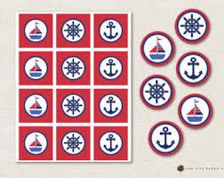 nautical cake toppers nautical cupcake toppers etsy