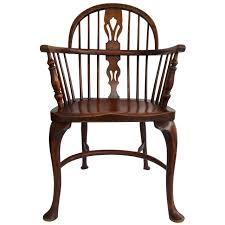 Low Back Armchair 19th Century Low Back Windsor Armchair With Cabriole Legs At 1stdibs