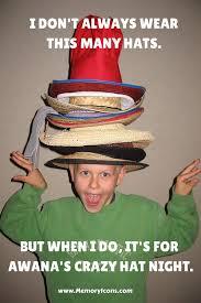 Hat Meme - awana crazy hat night meme www memoryicons com awana pinterest
