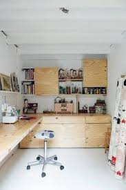 home design studio space good reads maker spaces plywood desk built ins and plywood