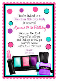 how to make invitations make up birthday party invitations make up makeover sleepover