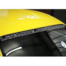 mustang windshield decal mustang latemodelrestoration windshield silver 15 18