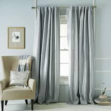 Grey Metallic Curtains Blue Metallic Basketweave Curtain