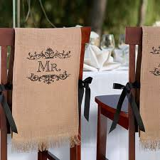 Paper Chair Covers Mr U0026 Mrs