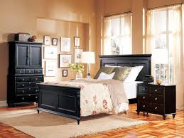 Bedroom Furniture Black Durham Furniture Savile Row 4 Piece Panel Bedroom Set In Antique Black
