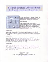 Destiny Usa Mall Map by Hotel Directions Sheraton Syracuse University Hotel U0026 Conference