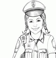 free kids police officer coloring pages coloring home