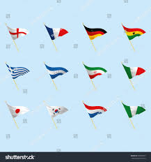 Different Flags In The World Vector Set Different Flags World Stock Vector 205856575 Shutterstock