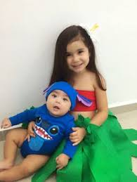 Infant Monsters Halloween Costumes Brother Sister Monsters Costumes Simple Joy