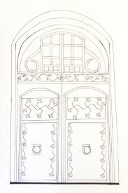 door coloring page u0026 people and places coloring pages