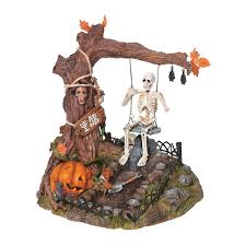 Animated Halloween Skeleton by Amazon Com Dept 56 Village Animated Swinging Skeleton 56 52514