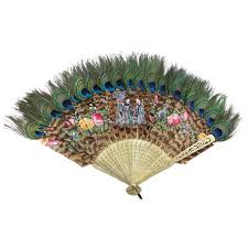 held fan held fan of peacock feathers japan circa 1880s at 1stdibs