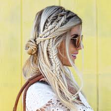 festival hair and boho looks to feel the vibes hairstyles flowers braids and looking undone festival hair inspiration 2015