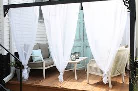 Outdoor Cabana Curtains Diy Outdoor Cabana With Curtains House Elizabeth