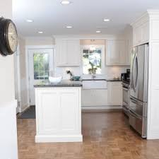 galley kitchens with island chic small modern galley kitchen featuring white wooden color