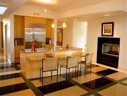 kitchen island and fireplace contemporary kitchen san