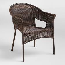 espresso all weather wicker tub chair set of 2 world market