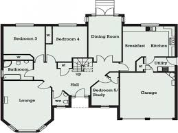 5 story house plans house plan bedroom bungalow in ghana floor one story plans