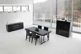 Black Lacquer Dining Room Table A U0026x Skyline Modern Black Crocodile Lacquer Dining Table
