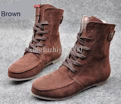 womens boots philippines fashion style lace up winter boots flat ankle shoe