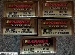 Barnes Vor Tx Armslist For Sale 100rds Barnes Vor Tx 70gr 5 56 Tsx
