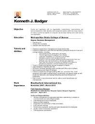 Resume Espanol Kenneth Badger Cv Resume English