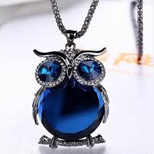 crystal owl necklace images Owl love you quot necklace cute animals club jpg