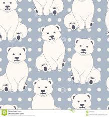 polar bears seamless pattern stock vector image 47430451