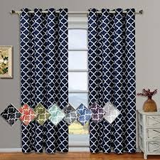 Hotel Room Darkening Curtains Meridian Navy Grommet Room Darkening Window Curtain