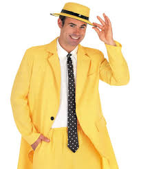 the mask costume mens yellow gangster suit costume the mask fancy dress