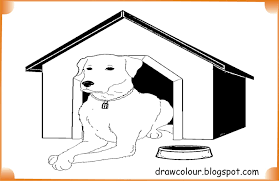 dog house coloring pages dog in house coloring pages art paper