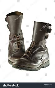 used motorcycle boots pair worn polish army boots used stock photo 68543461 shutterstock
