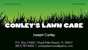 Lawncare Business Cards Business Cards Spot Uv Printing Services West Palm Beach