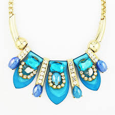 blue crystal statement necklace images Blooming petal necklace blue crystal statement necklaceby jpg