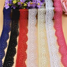 lace ribbon by the yard new wholesale 10 yards beautiful fan shape high quality elastic
