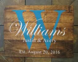 wedding gift name sign wedding established etsy