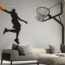 Sports Decals For Kids Rooms by Online Get Cheap Removable Wall Sticker Basketball Aliexpress Com