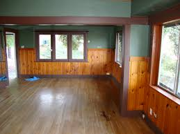 Painting Wood Floors Ideas Knotty Pine Craftsman Home Floor Fireplace Color Plank House