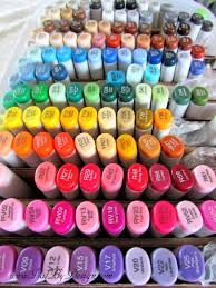 my copic markers u0027 cheap storage for now anyway valbydesign
