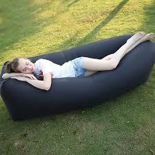 canapé gonflable piscine lit canapé gonflable plein air portable noir sac à couchage
