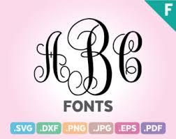 initial monogram fonts monogram font svg etsy studio
