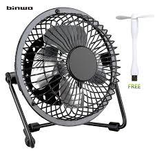 Quiet Desk Fan Binwo Quiet Mini Desk Usb Fan Portable Metal Cooling Fan For