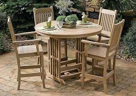 bar height patio table plans bar height outdoor dining set dibz co