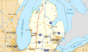 Michigan Casino Map by U S Route 131 Wikipedia