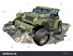jeep cartoon offroad vector cartoon military 4x4 car available stock vector 441155332