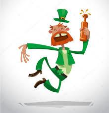 funny leprechaun jumping u2014 stock vector ivannikulin 88368242