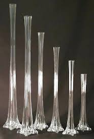 Antique Hand Blown Glass Vases Wide Mouth Glass Vases Cylinder Vase Bowl Set Of 3 Clear Glass